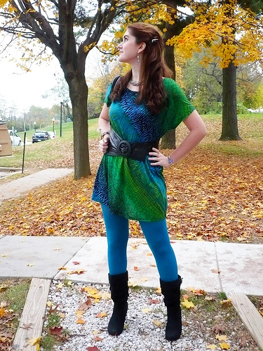 Blue Tights Outfit