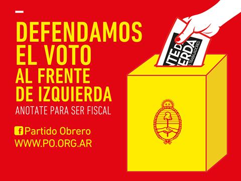 ANOTATE Y FISCALIZA PARA EL FRENTE DE IZQUIERDA