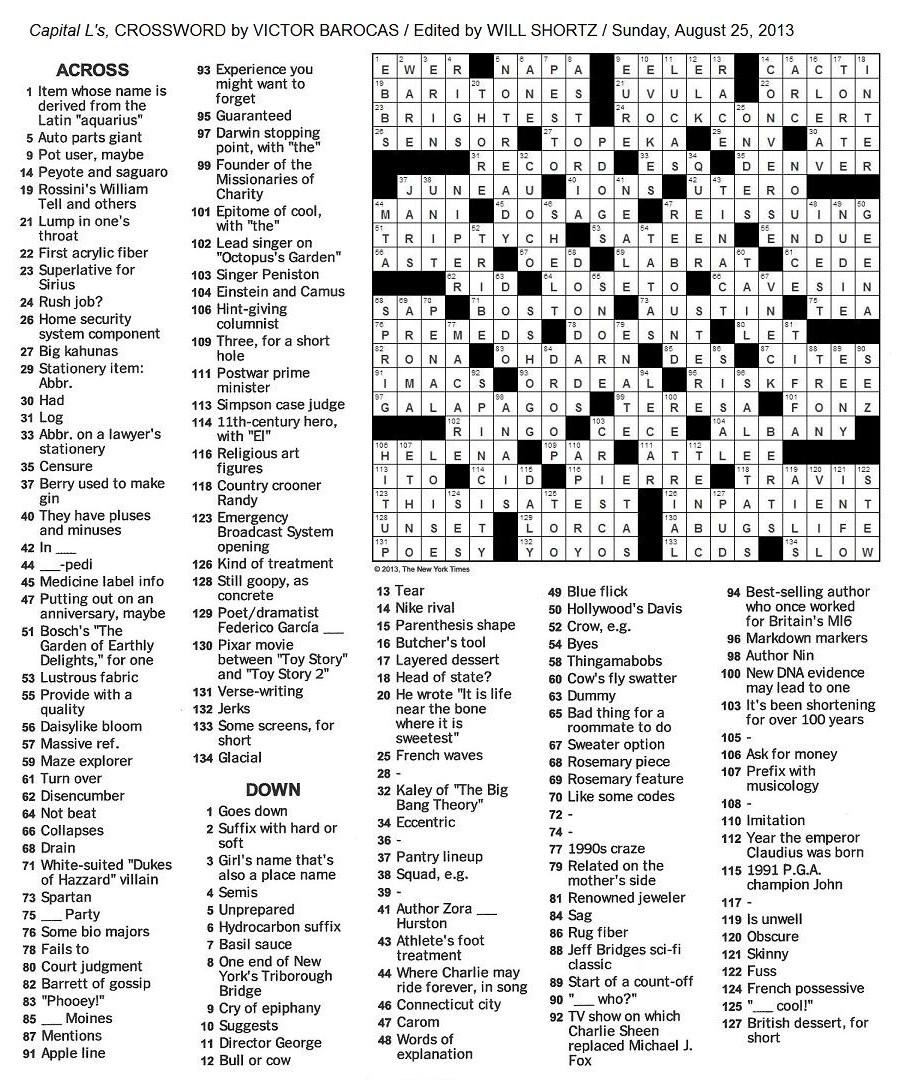New+York+Times+Crossword+by+Victor+Barocas+edited+by+Will+Shortz