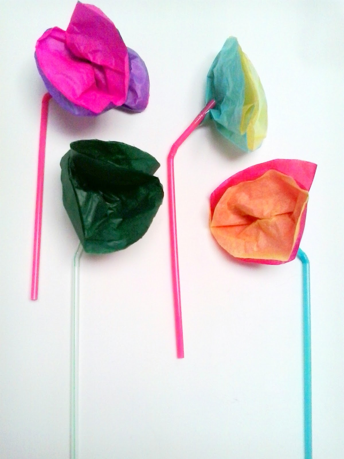 Kids Craft Tissue Paper Flowers Get Crafty
