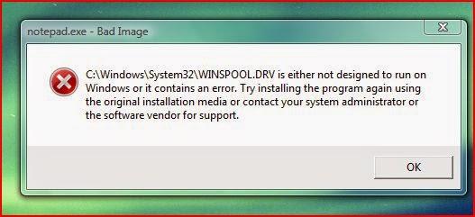 Cara untuk memperbaiki kesalahan Winspool.drv