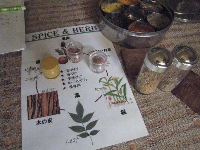 スパイス&ハーブを使ったお料理教室
