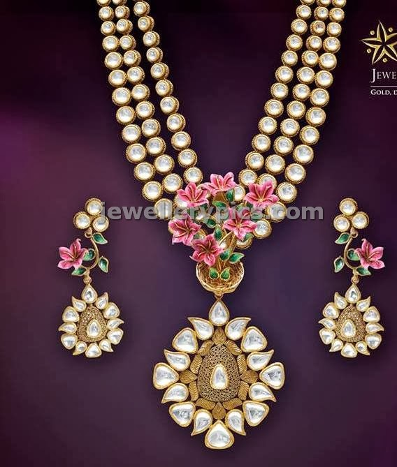 jcs jewellers polki uncut diamond long chain