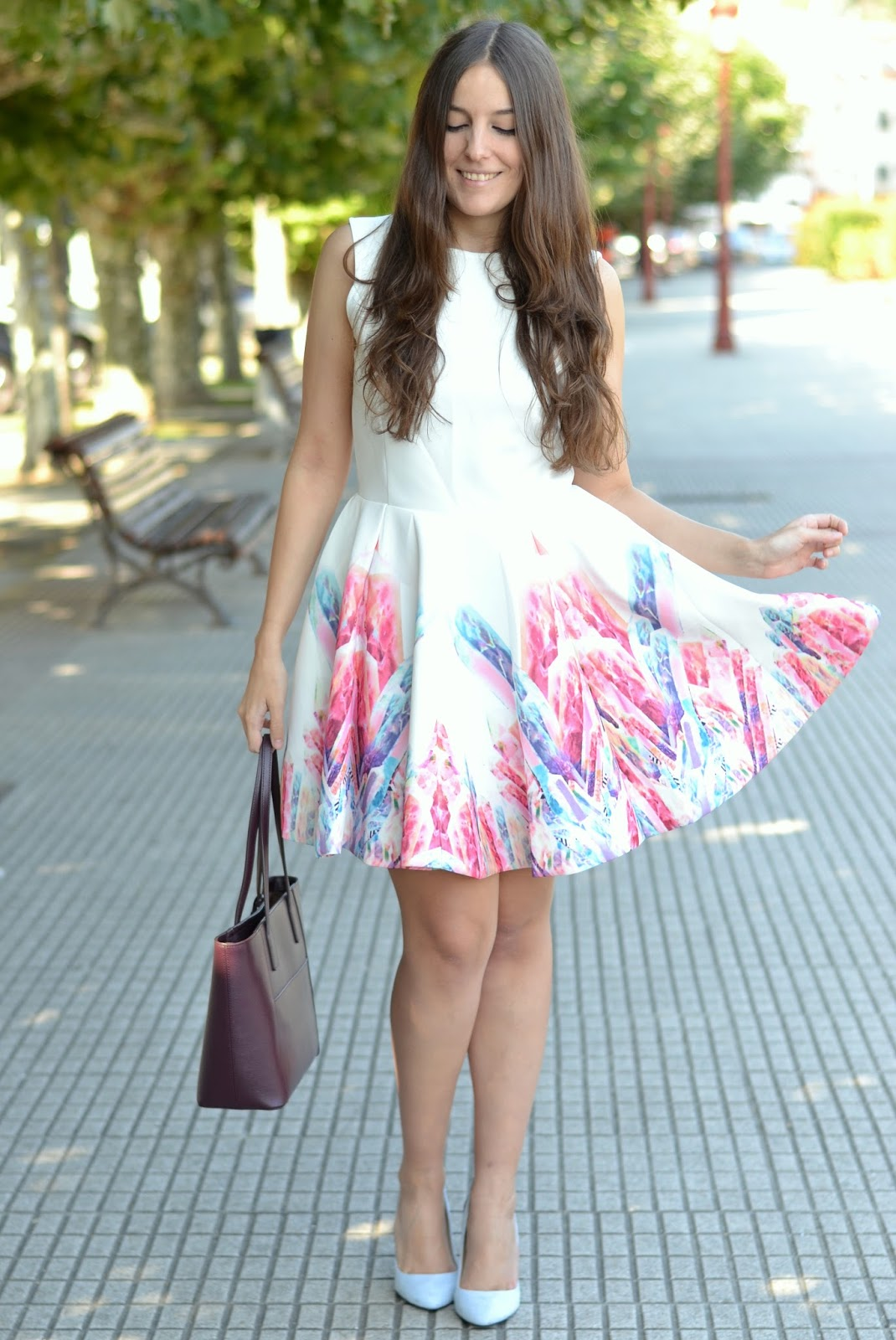 outfits baby blue heels