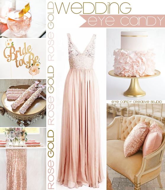 cocktail, blush dress, wedding cake, rose wedding, sequin runner, cake topper