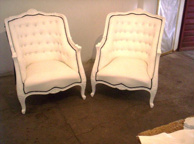 Reciclado de sillas y sillones dos sillones estilo luis for Sillones de estilo