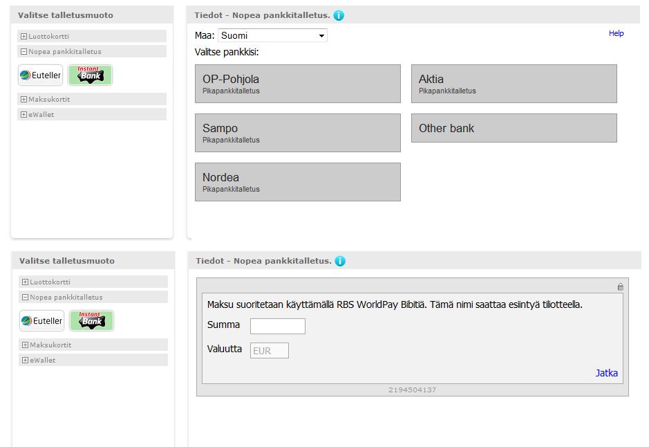Euteller Account Settings Screen