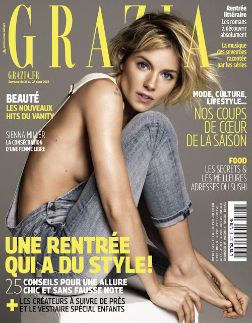 Actress, Model @ Sienna Miller - Grazia France, August 2015
