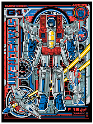 "Wizard World Philadelphia Comic Con 2013 Exclusive Transformers ""Starscream"" Standard Edition Screen Print by Jesse Philips"