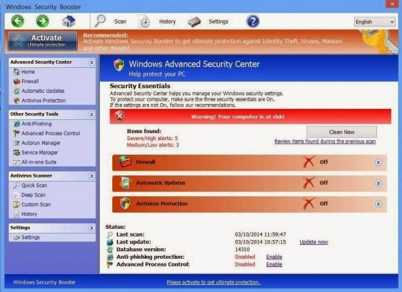 Windows Security Booster