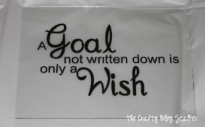 A Goal Not Written Down is Only a Wish