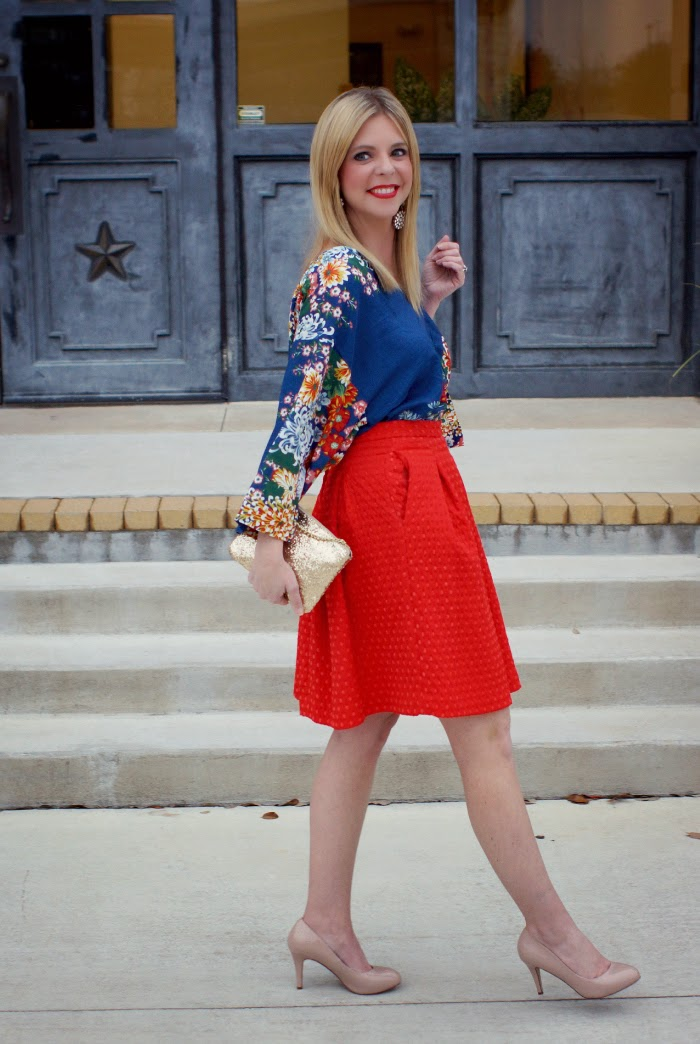 textured midi skirt for spring