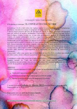 Primo Workshop Artiterapie: 16 Marzo ore 15.30 palestra scuola elementare Borgo Pasubio