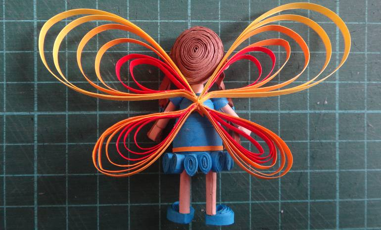 Fairy Girl 3D quilling tutorial how to