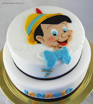 polvere di zucchero cake design pinocchio disney torta decorata collage pdz
