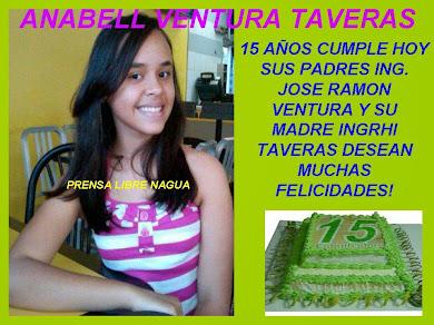 ANABELL VENTURA TAVERAS..CUMPLE 15 AÑOS HOY