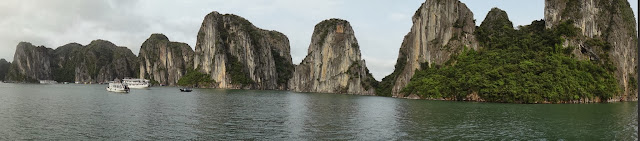 A panorama of Halong Bay view in Hanoi, Vietnam