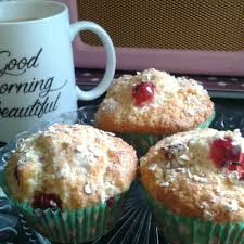 Cranberry oat muffins