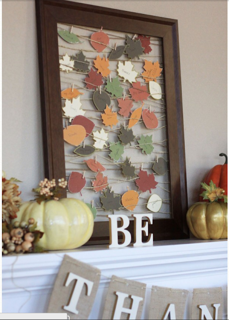 thankful leaves on frame