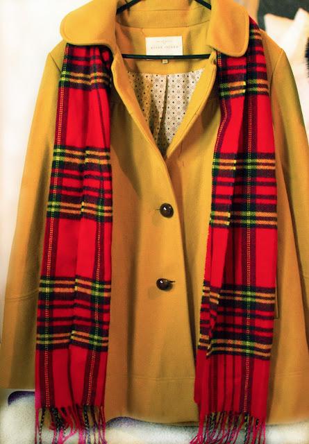 60's style mustard coat