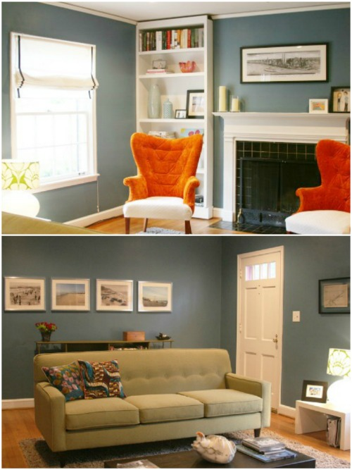 Teal And Orange Living Room Decor Modern House