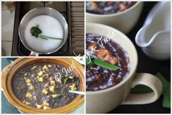 bubur ketan hitam dan kacang hijau dengan slow cooker