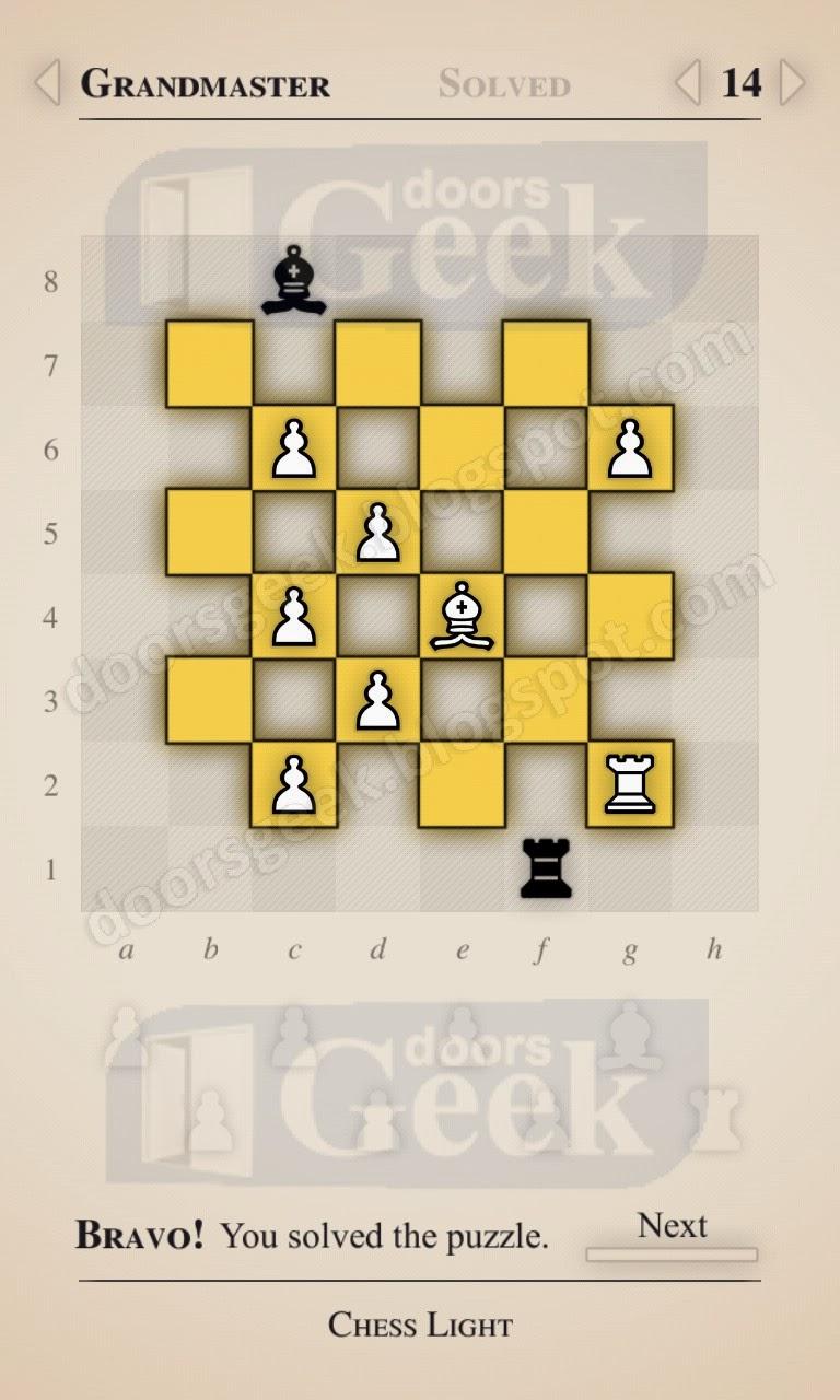 Chess light grandmaster level 14 doors geek for Solution wordbrain cuisine