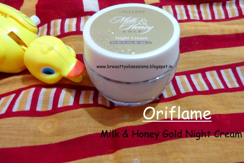 Oriflame Milk and Honey Gold Night Cream Review