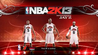 NBA 2K13 Team USA Startup Screen Mod