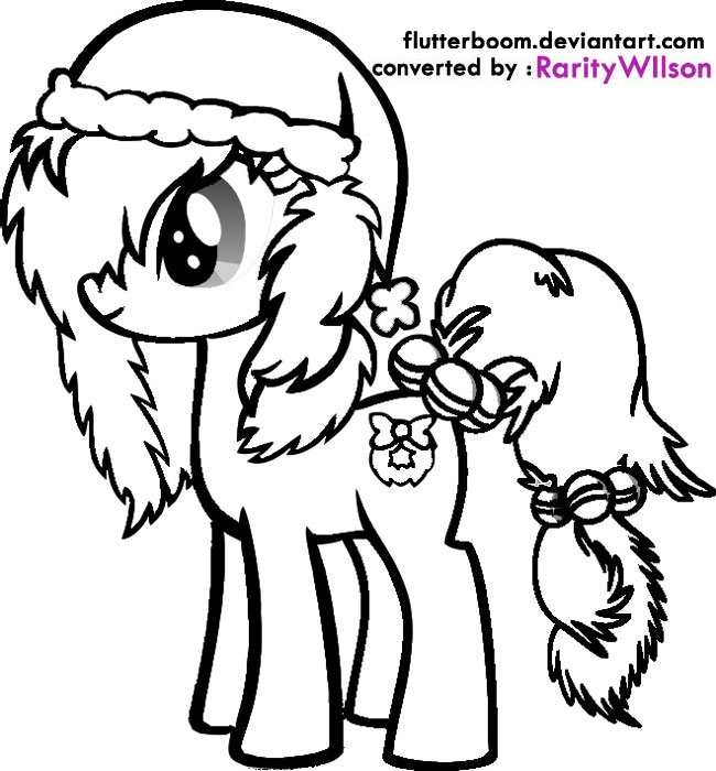 my little pony christmas coloring pages team colors