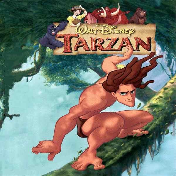 Tarzan est 0e9lev0e9 parmi les gorilles et se voit ainsi