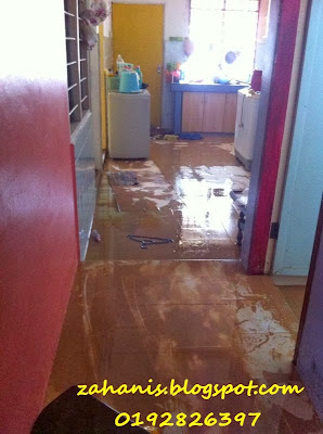rumah banjir di permatang badak