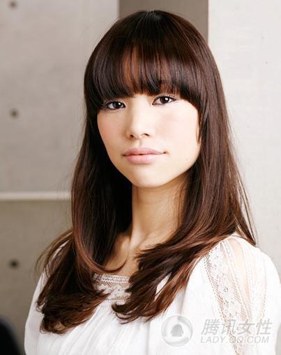 Asian Women with Long Hair