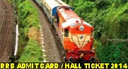 RRB Assistant Loco Pilot, Technician Admit Card 2014, RRB Exam Hall Ticket 2014, RRB 26570 Technician Admit card 2014
