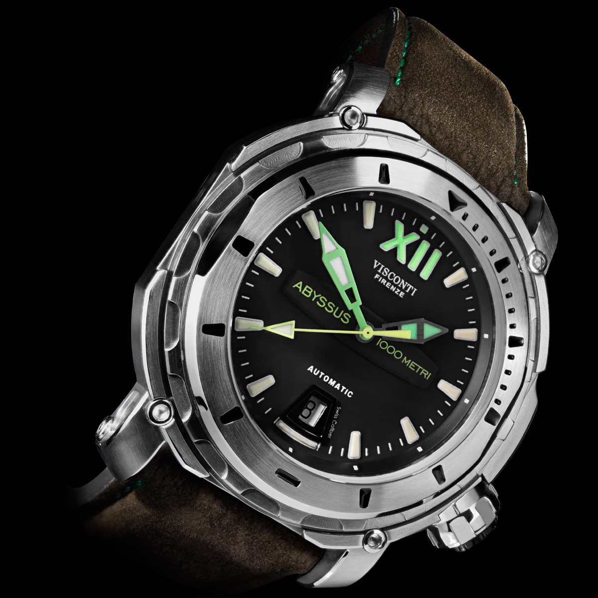 Oceanictime visconti abyssus full dive 1000m for Dive watch