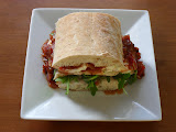 Smoked Mozzarella and Chicken Sandwiches with Italian Barbecue Sauce