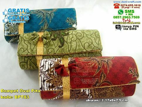 Dompet Oval Pita Karton Kain Batik