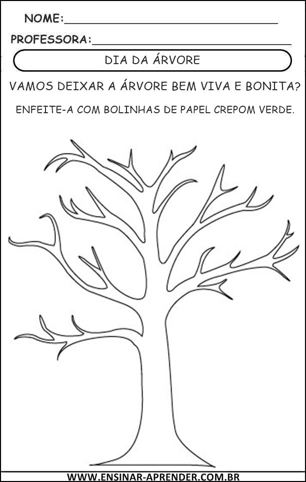 Suficiente DIA DA ÁRVORE – ATIVIDADES 2013   Cantinho do Educador Infantil AD63