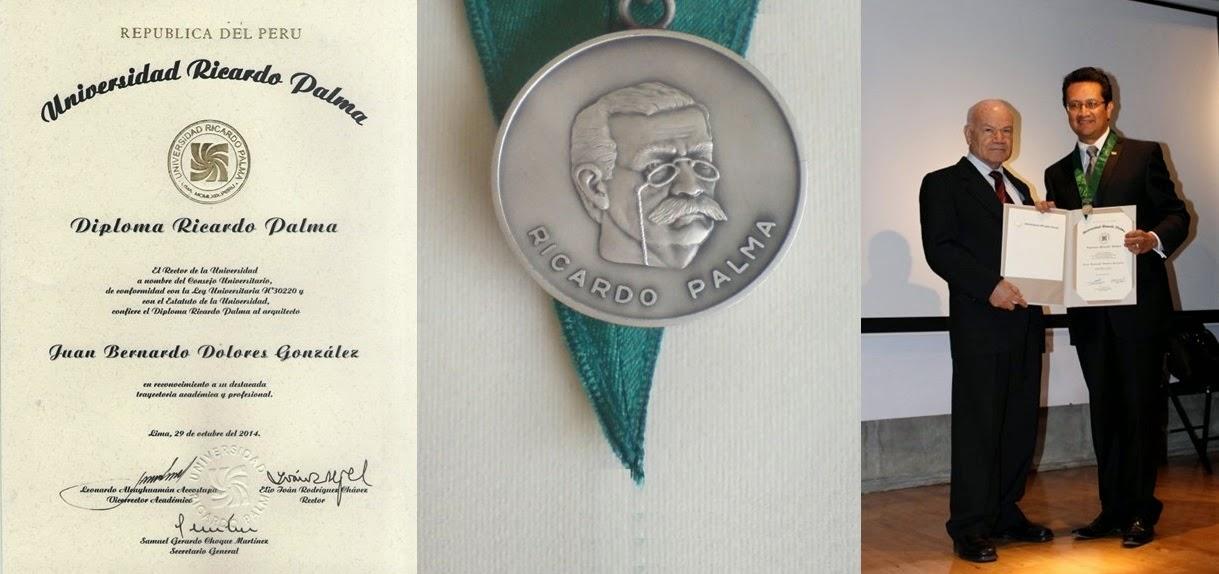 Medalla Ricardo Palma / Universidad Ricardo Palma / Lima, Perú