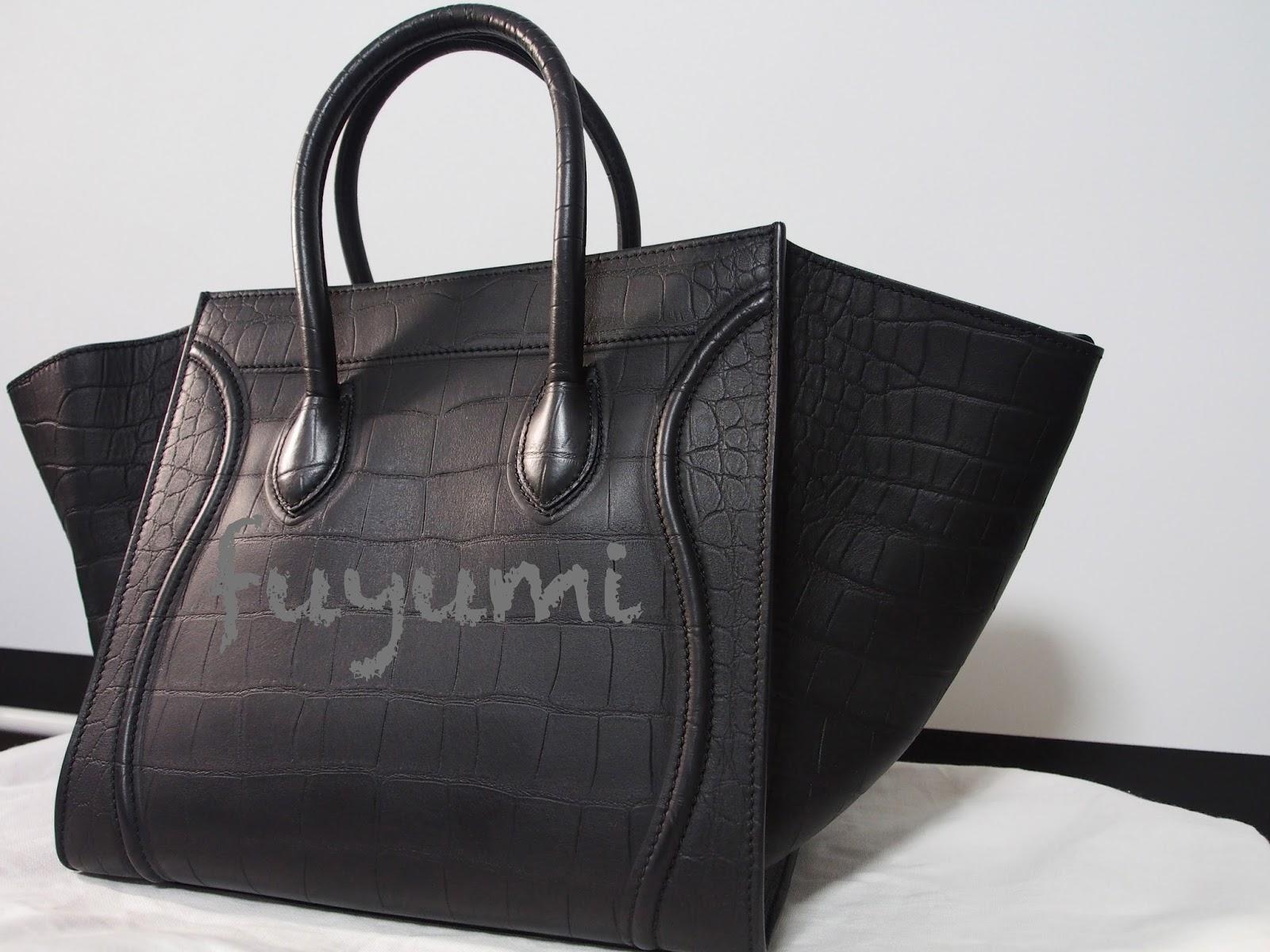 neon pink celine bag - Lyn's Blogalicious: Review : Celine Croc Embossed Phantom