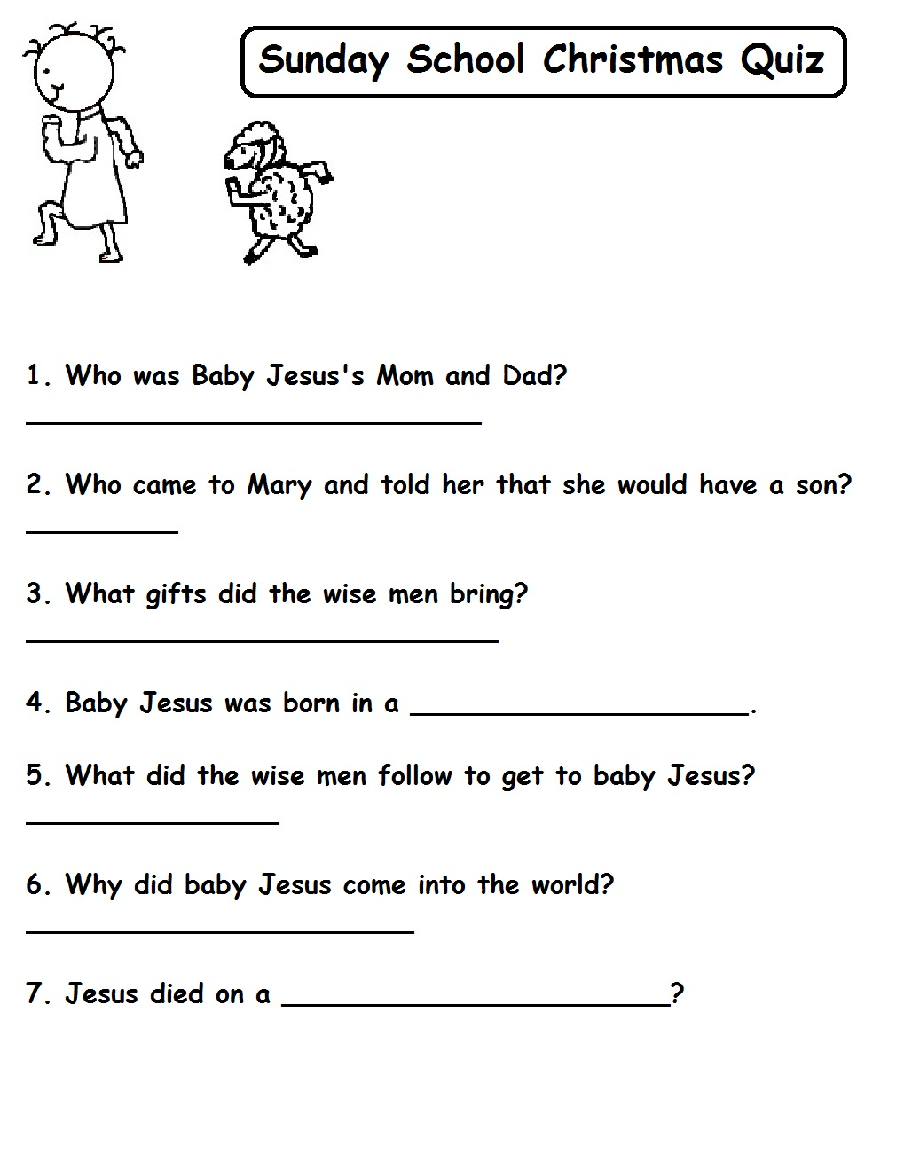 Church House Collection Blog: Christmas Quizzes For Sunday School