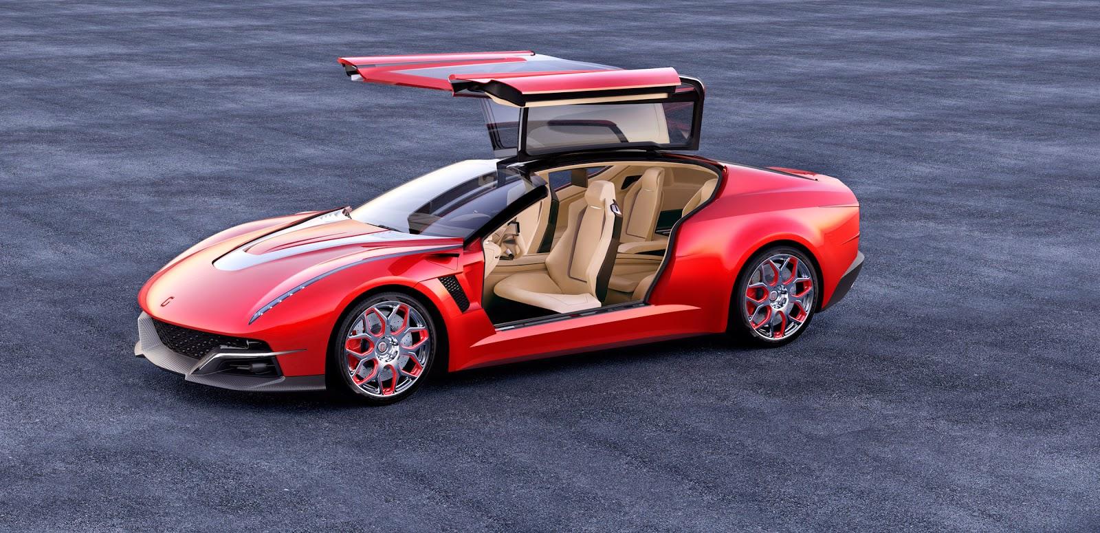 Gambar Mobil Sport Merah GIUGIARO BRIVIDO