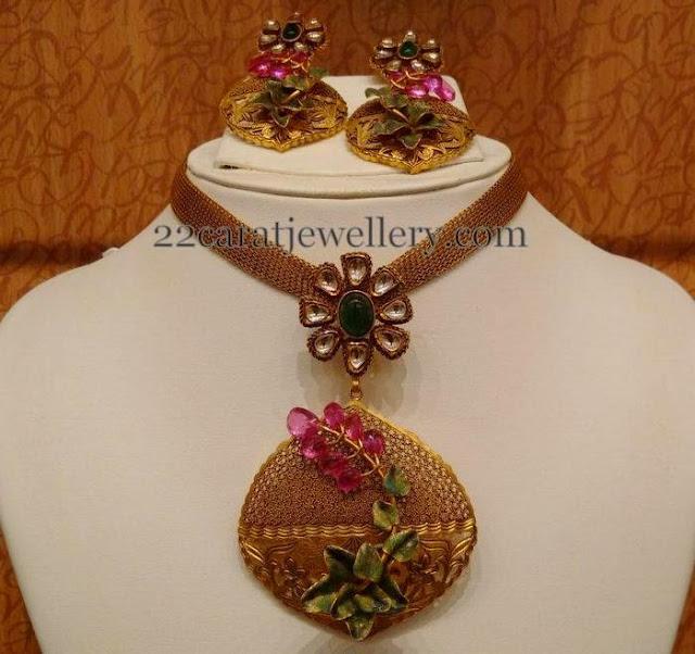 Rose Cut Beads Antique Set