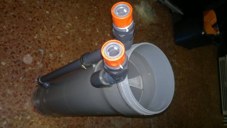 Viviendo en un acuario filtro externo pvc casero for Filtro para pecera