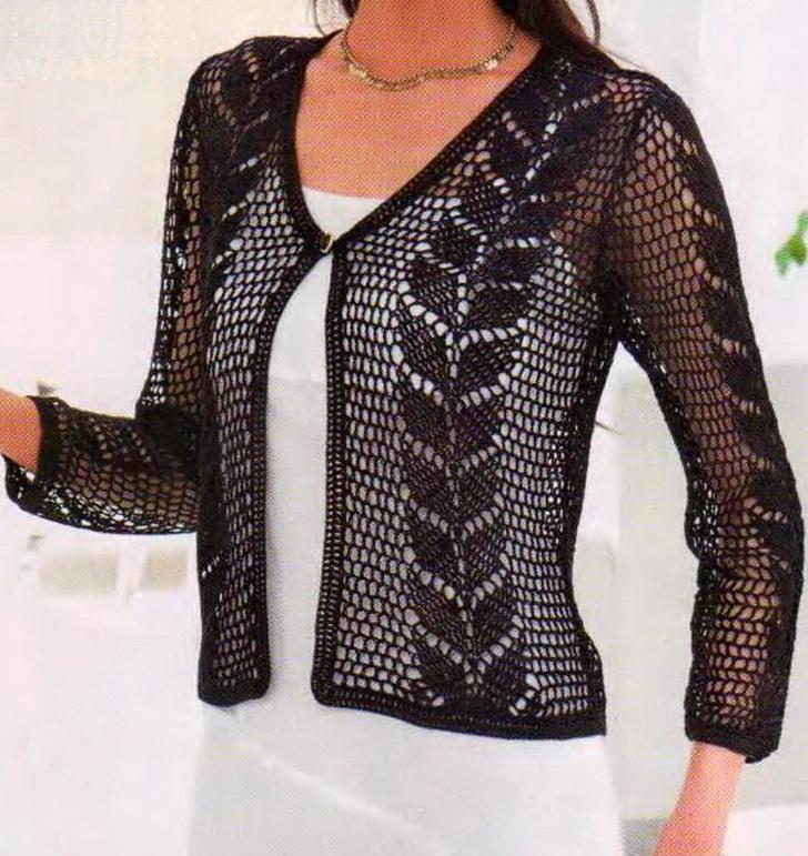 Free Crochet Pattern Lace Sweater : Crochet Sweaters: Crochet - Crochet Lace Sweater For Ladies