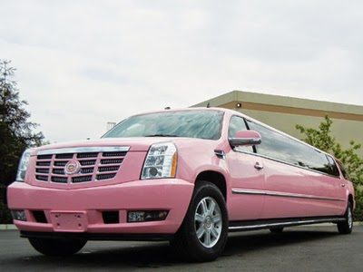 Today's Limousine - Pink Cadillac Escalade Limousine