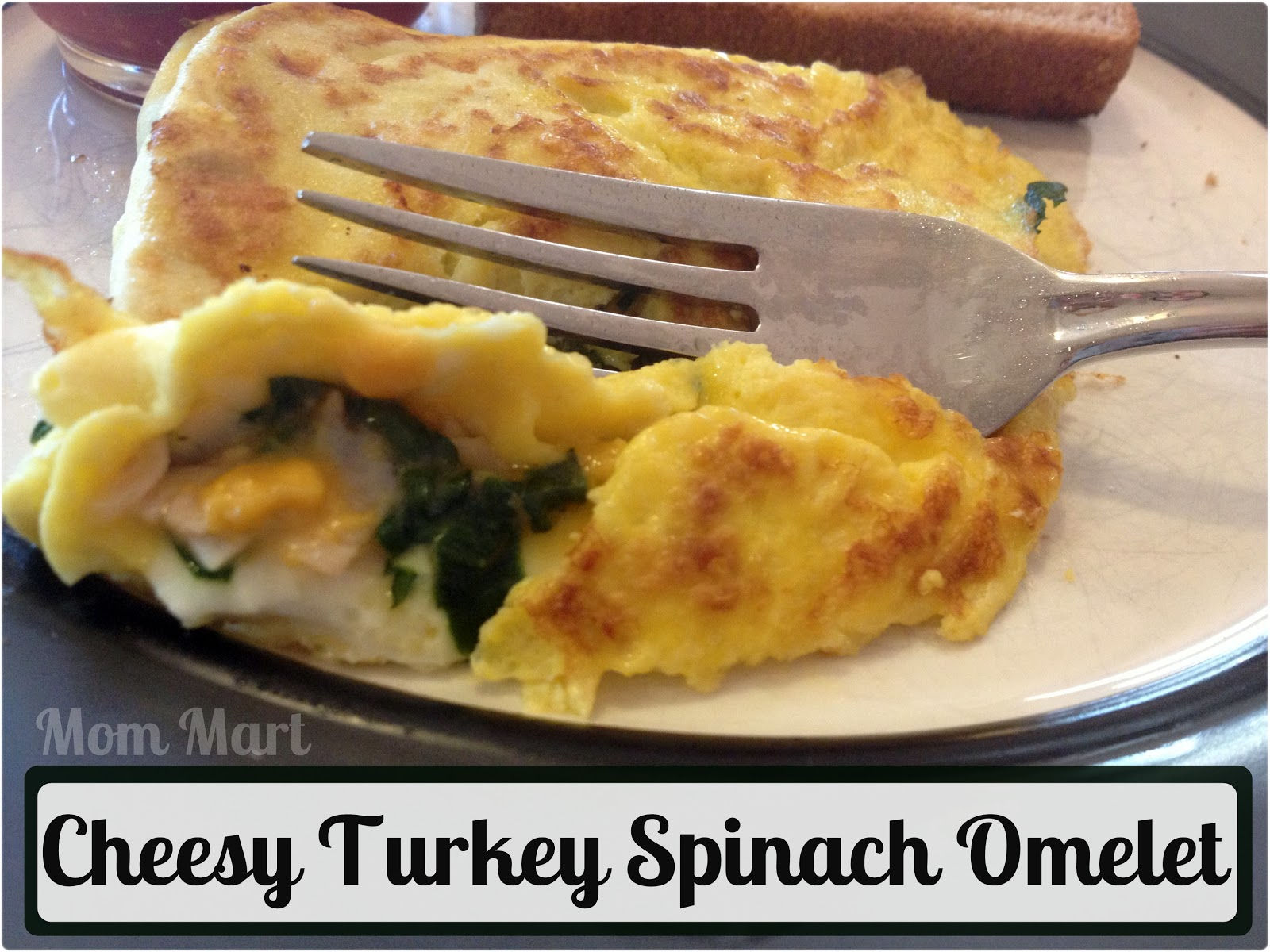 Make a Cheesy Turkey Spinach Omelet! #Recipe