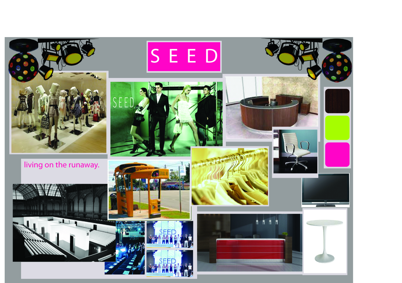 environmental design mmu: concept board+exhibition profile for
