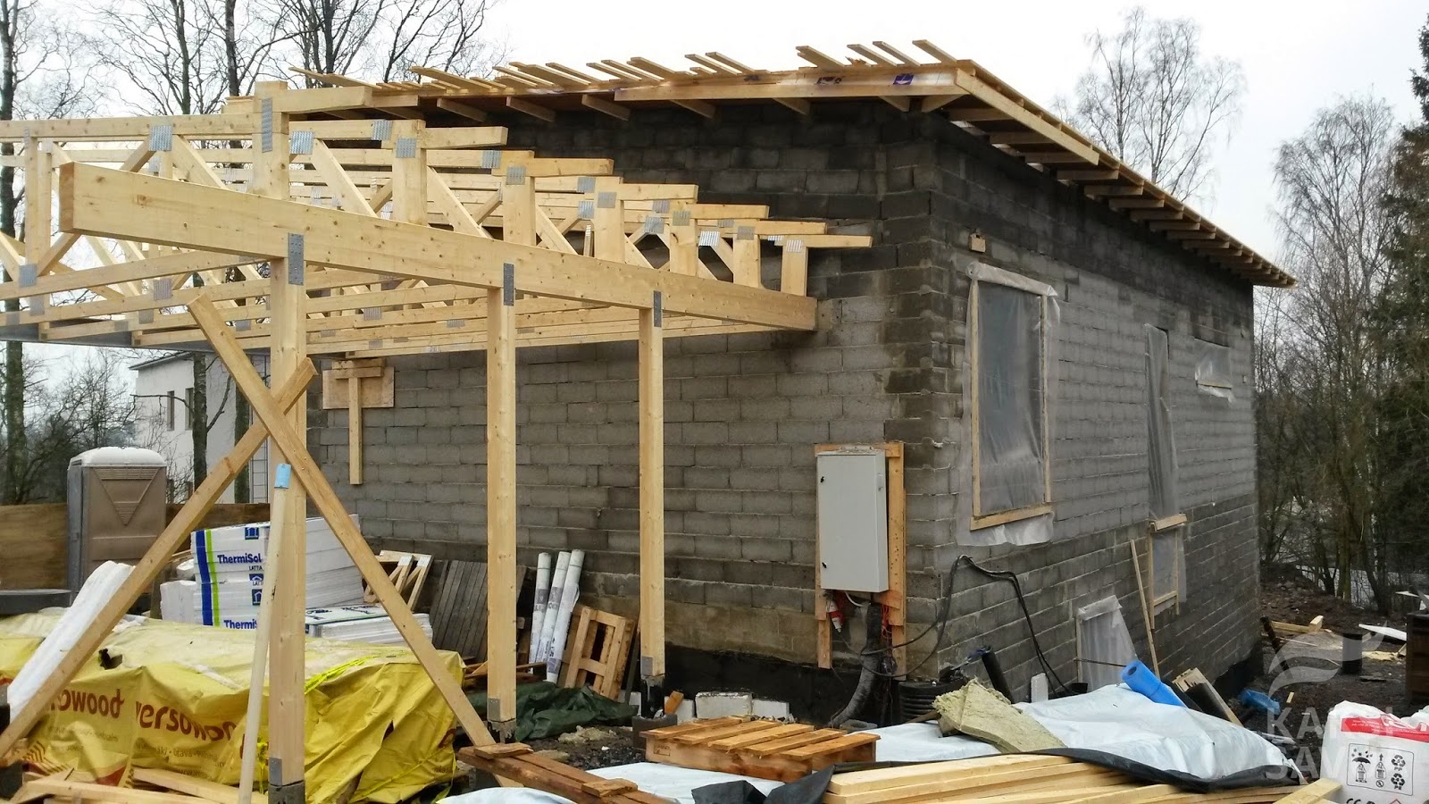 Kattotuolit, muovit ja tuulensuojalevyt