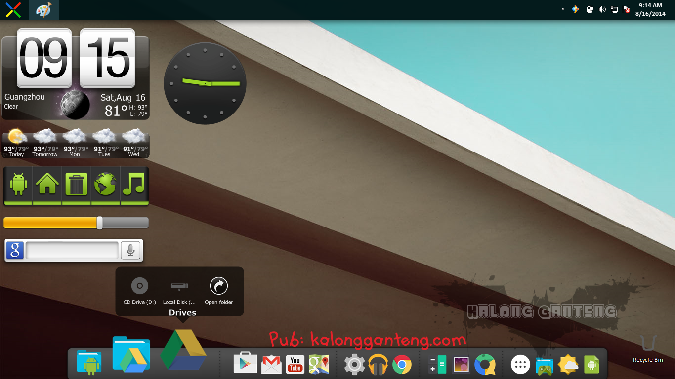 Android L Skin Pack for Windows 7 Screenshot